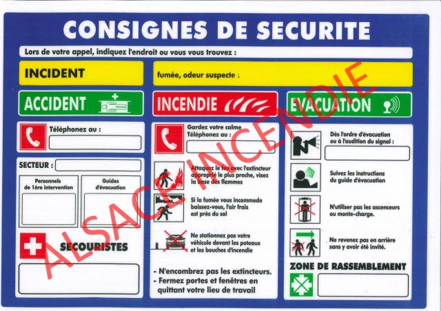 Consignes for Chambre de securite